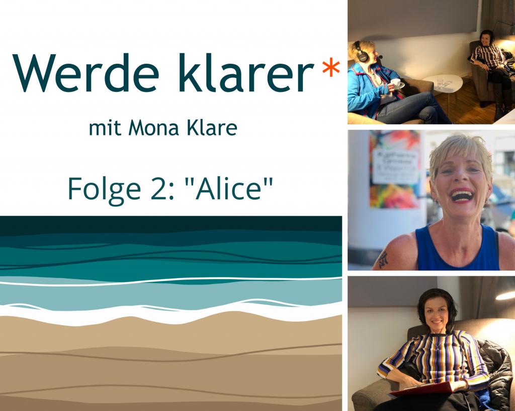 Fotos von der Podcast-Produktion: Alice Marie Westphal und Mona Klare